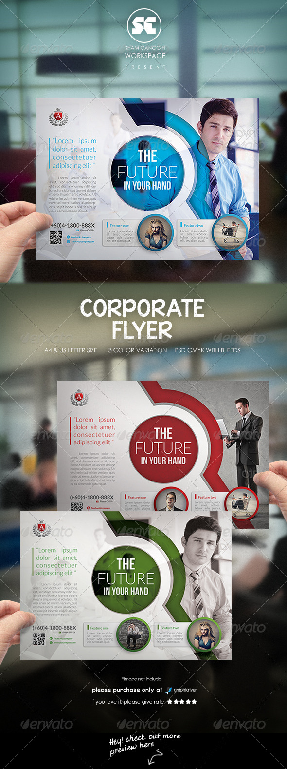 GraphicRiver Modern Corporate Flyer 8025180