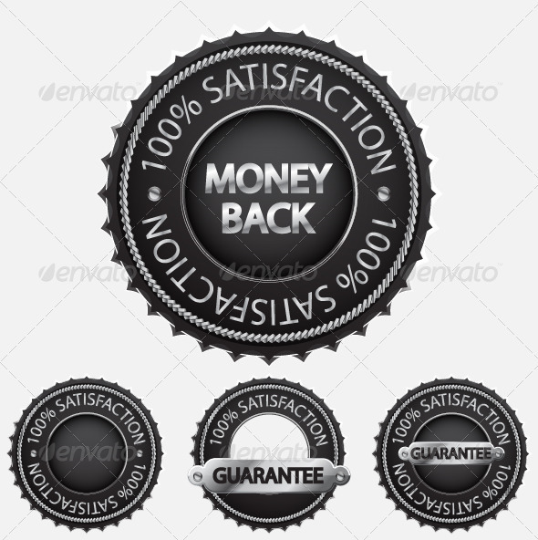 GraphicRiver Satisfaction Guaranteed Badge Set 818988