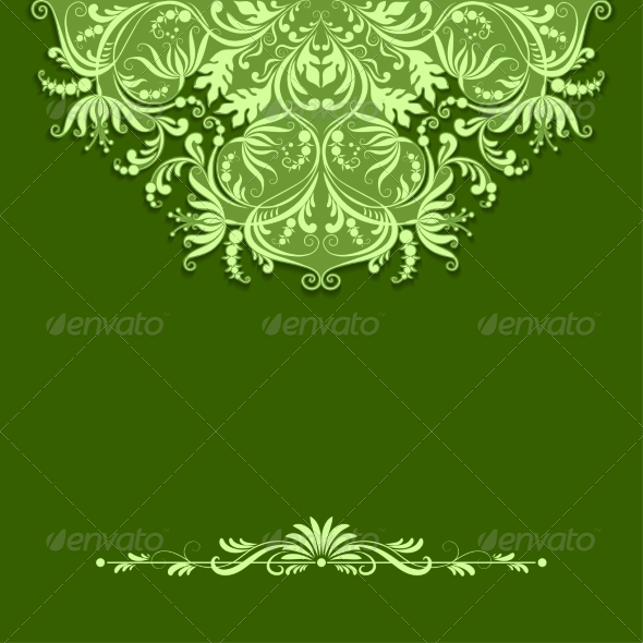 Paper Pattern on Green Background