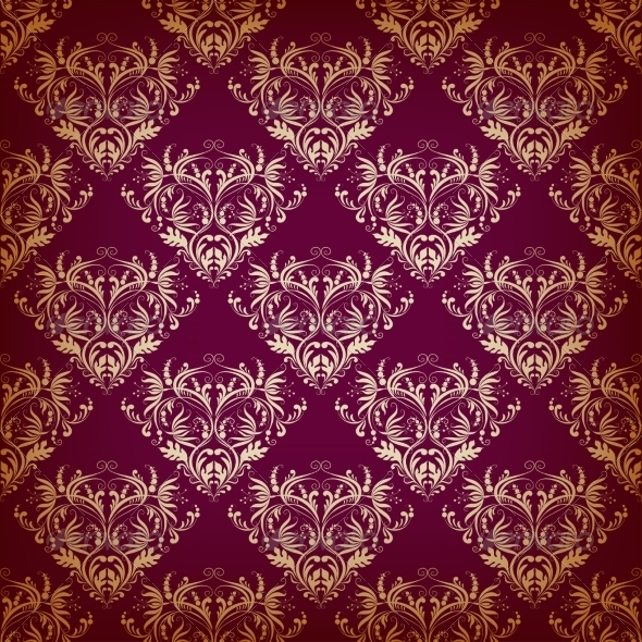 GraphicRiver Seamless Pattern in Victorian Style 8025205