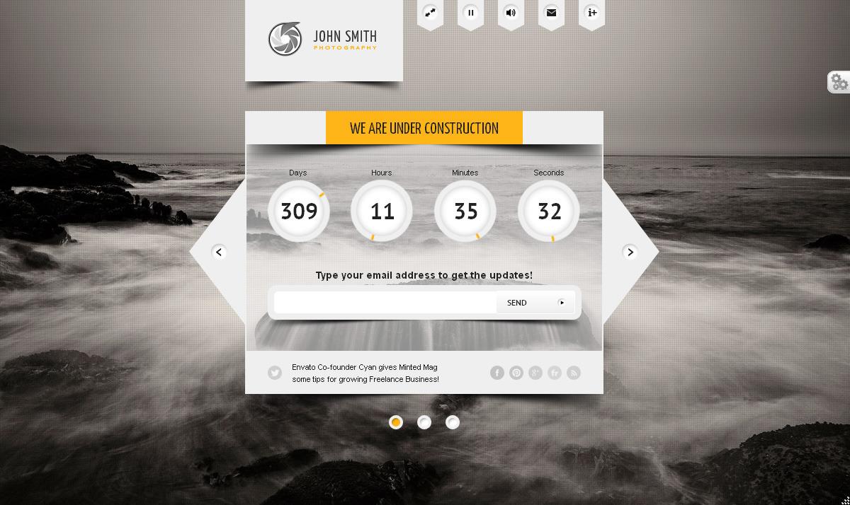 BIG Countdown - Fullscreen Coming Soon Page