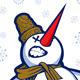 Download Vector Cartoon Snow Man Smile