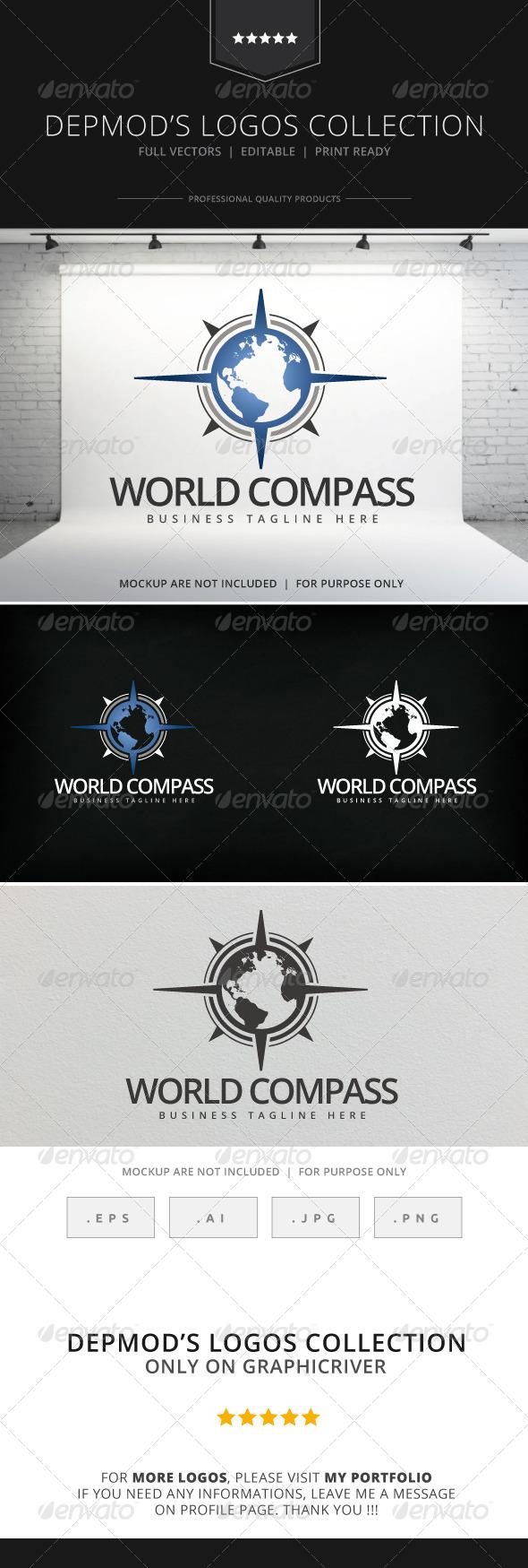 GraphicRiver World Compass Logo 8025474