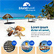Simple Travel-Holidays Promotional Newsletter - GraphicRiver Item for Sale
