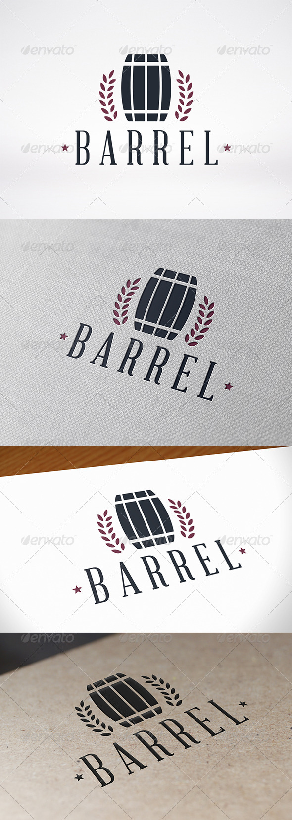 Barrel Logo Template