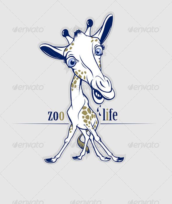 Graphic River Cartoon Giraffe Vectors -  Characters  Animals 819151