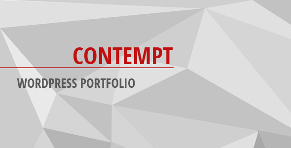 CodeCanyon Contempt WordPress Portfolio 8025846