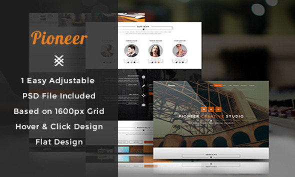 ThemeForest Pioneer One Page PSD Template 7974496