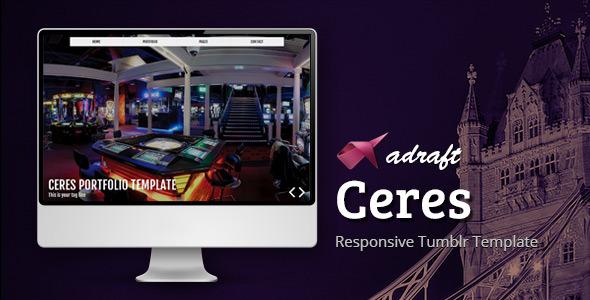 Ceres - Responsive Tumblr Portfolio Template