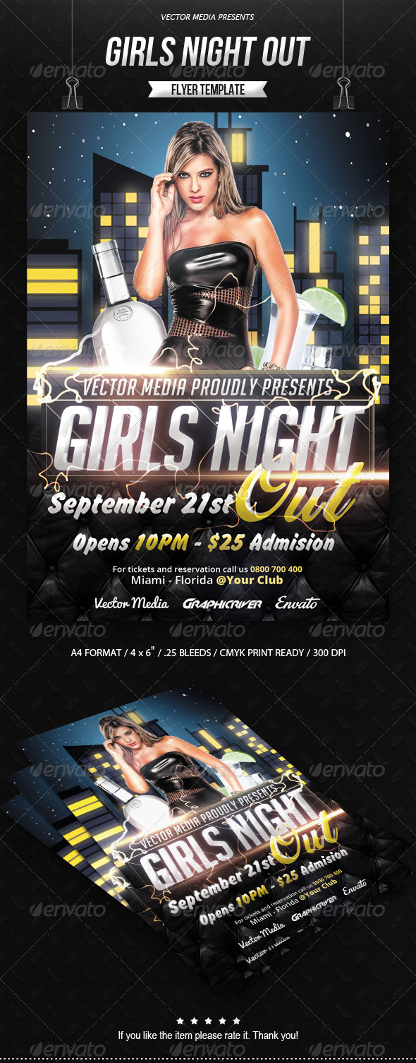 GraphicRiver Girls Night Out Flyer 8026051