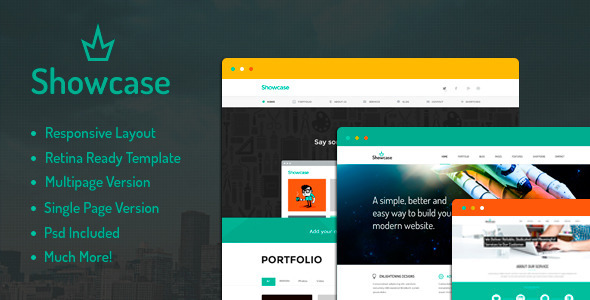 ThemeForest Showcase Multipurpose HTML Template 7970488