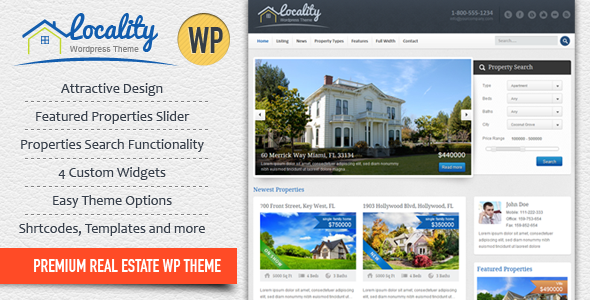 Locality - Real Estate WordPress Theme - Real Estate WordPress