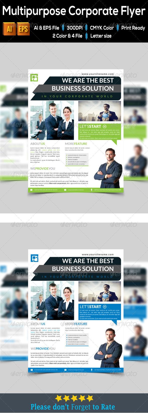 GraphicRiver Multipurpose Corporate Flyer 8026265
