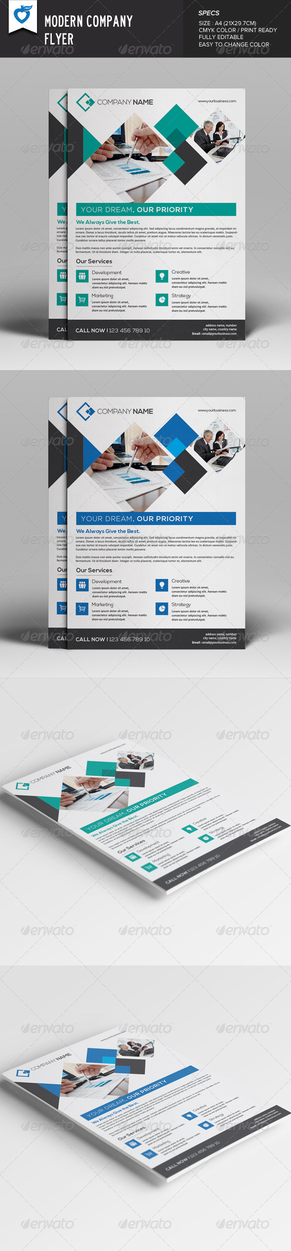 GraphicRiver Modern Company Flyer 8026340