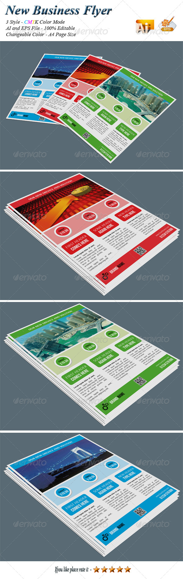 GraphicRiver New Business Flyer 8026346