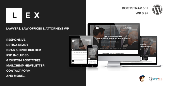LEX - Law Offices, Lawyers & Attorneys WP - Business Corporate