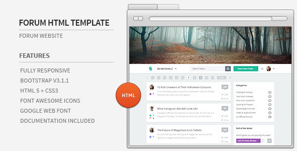 Forum Website HTML Template - Miscellaneous Site Templates