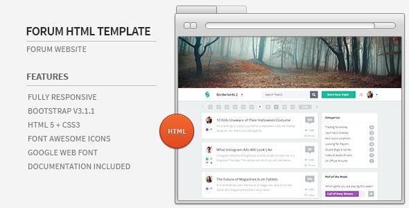 ThemeForest Forum Website HTML Template 7968760