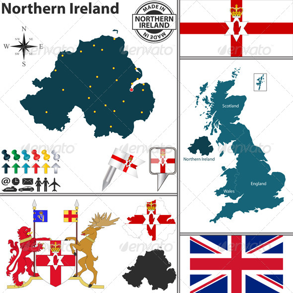 GraphicRiver Map of Northern Ireland 8026587