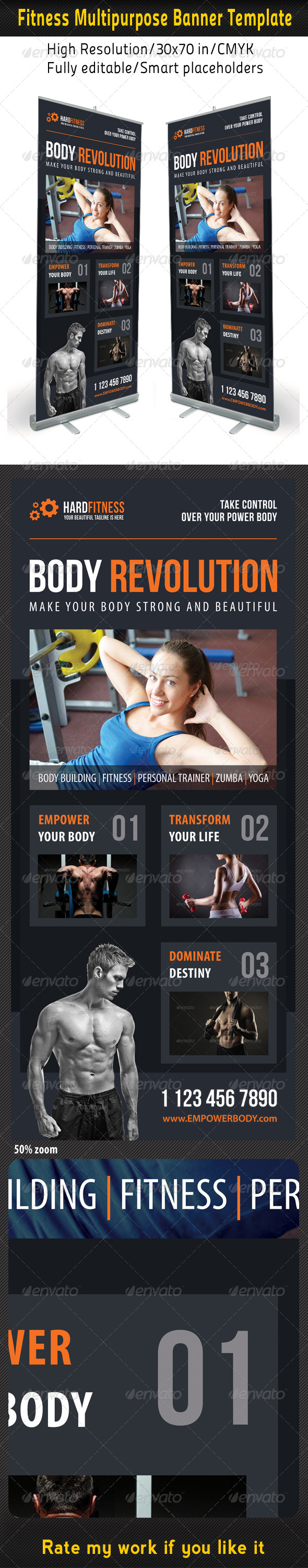 Fitness Multipurpose Banner Template 15