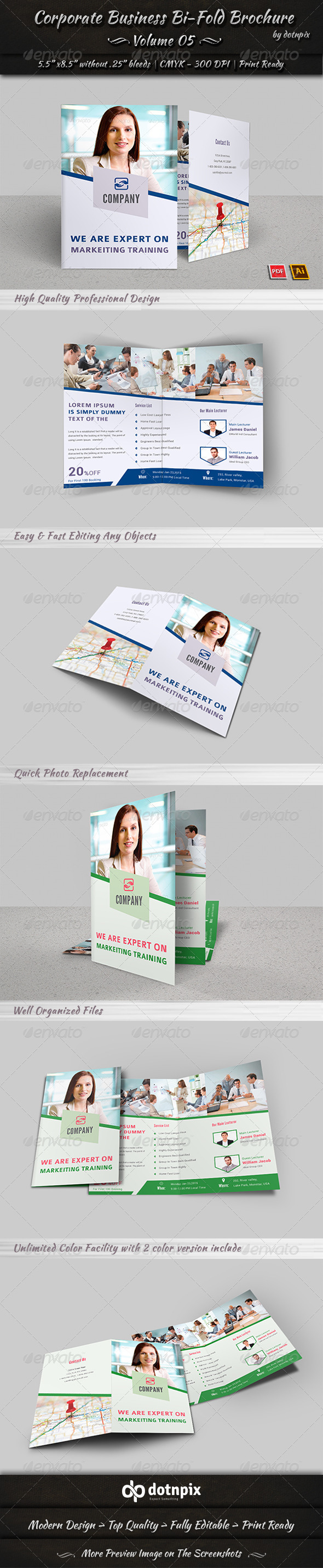 GraphicRiver Corporate Business Bi-Fold Brochure Volume 5 8023502