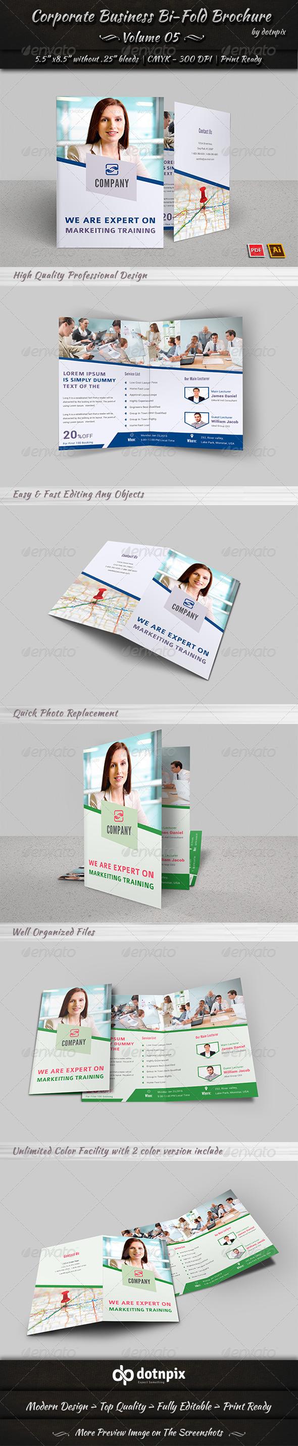 Corporate Business Bi-Fold Brochure Volume 5