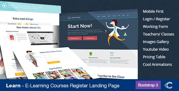 ThemeForest Learn Education Classes Landing Page 8026916