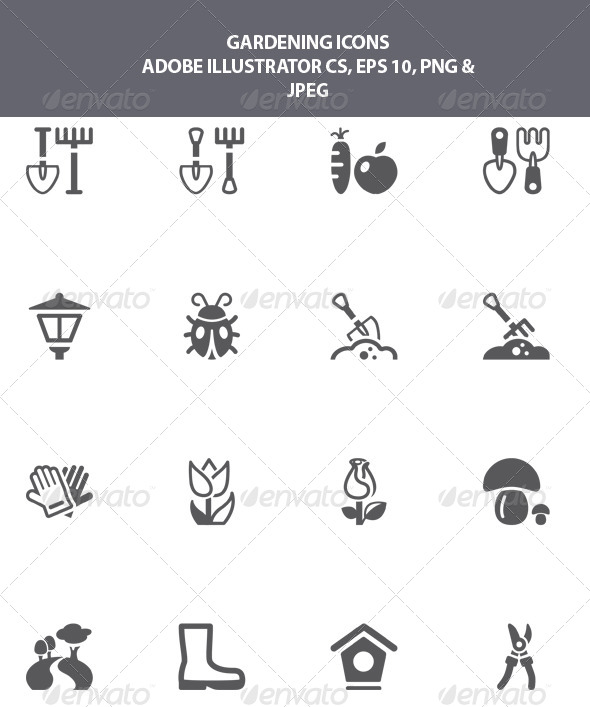 GraphicRiver Gardening Icons 8026922