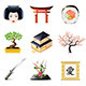 Japanese Culture Icons Set - GraphicRiver Item for Sale