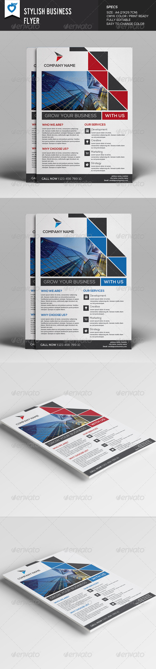 GraphicRiver Stylish Business Flyer 8027052