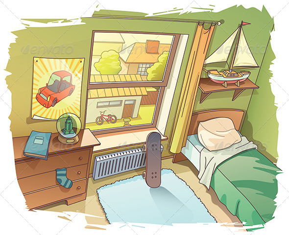 GraphicRiver Young Boy s Room 8027059