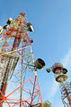 telecommunication towers with blue sky - PhotoDune Item for Sale
