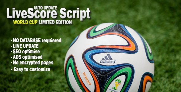 CodeCanyon World Cup Livescore Script [ Limited Edition ] 8009527