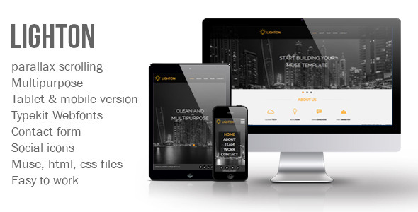 ThemeForest Lighton Muse Template 8027096