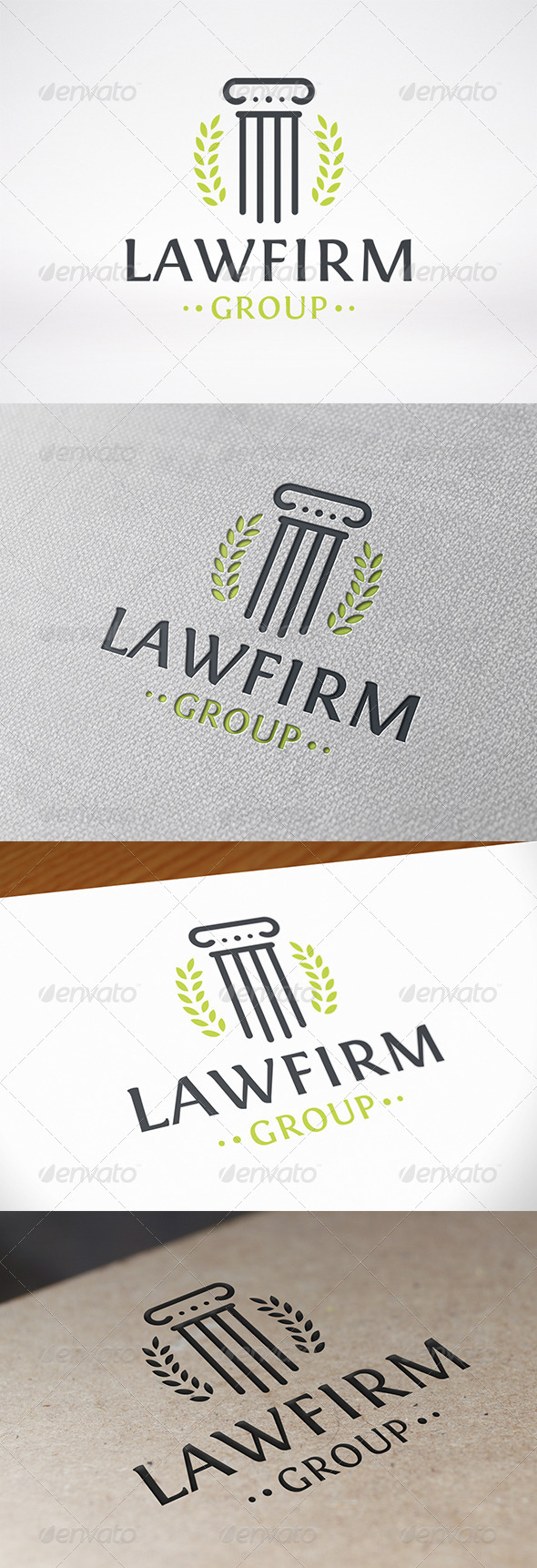 GraphicRiver Law Firm Logo Template 8027105