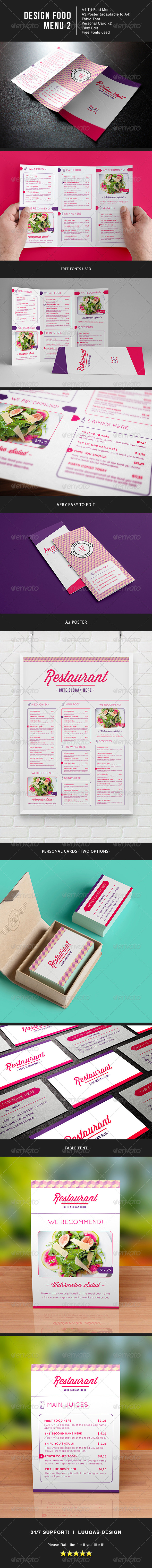 GraphicRiver Design Food Menu 2 8027111