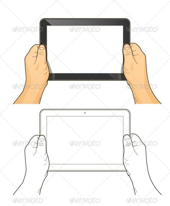 GraphicRiver Tablet PC in Hands 8027116