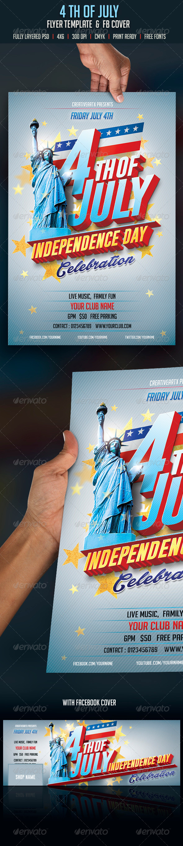 GraphicRiver 4th of July Flyer 8018393