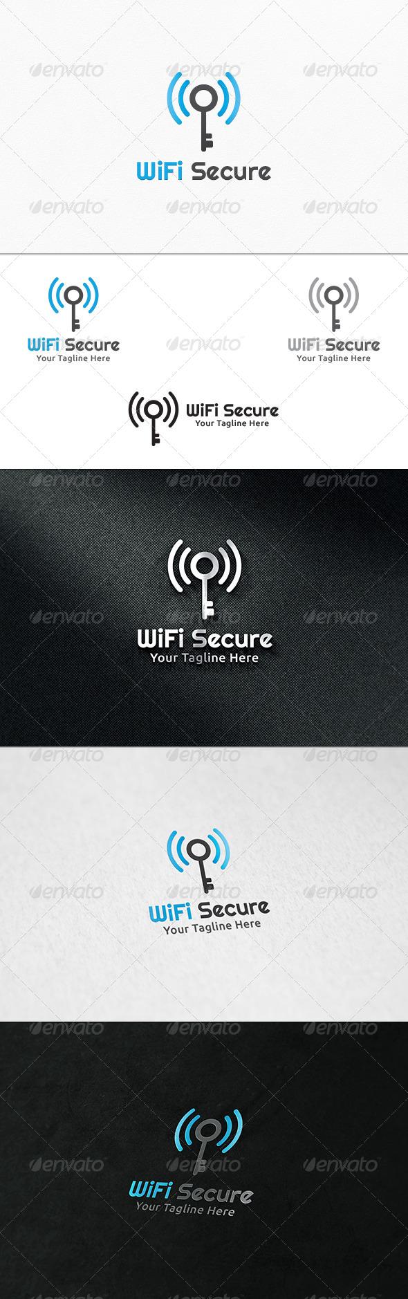 GraphicRiver Wifi Secure Logo Template 8027492