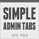 Simple Admin Tabs
