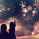 Family looks fireworks - PhotoDune Item for Sale