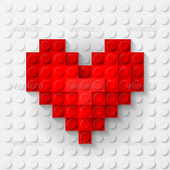 GraphicRiver Heart Made of Construction Kit 8027670