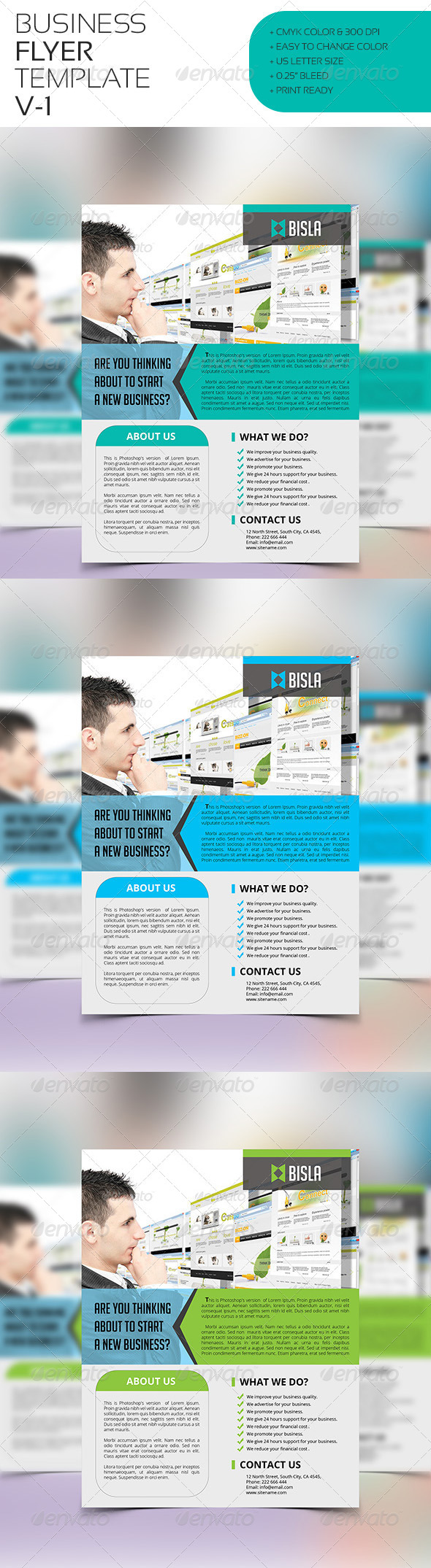 GraphicRiver Business Flyer Template V-1 8027675
