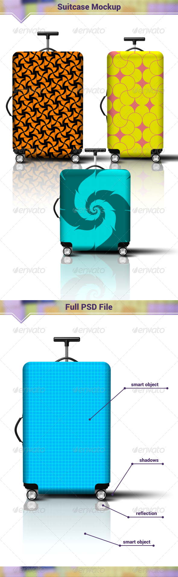 GraphicRiver Suitcase Mockup 8027842