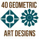 40 Geometric Art Designs - GraphicRiver Item for Sale