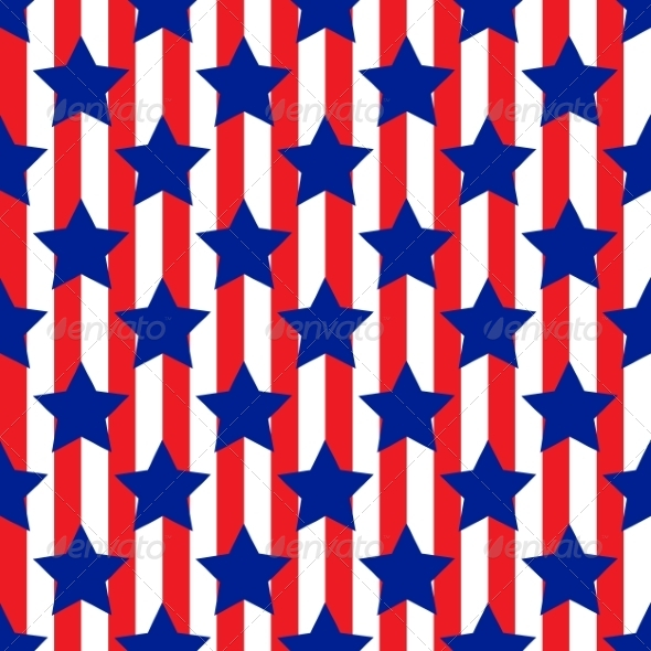 GraphicRiver Patriotic USA Seamless Pattern 8027856