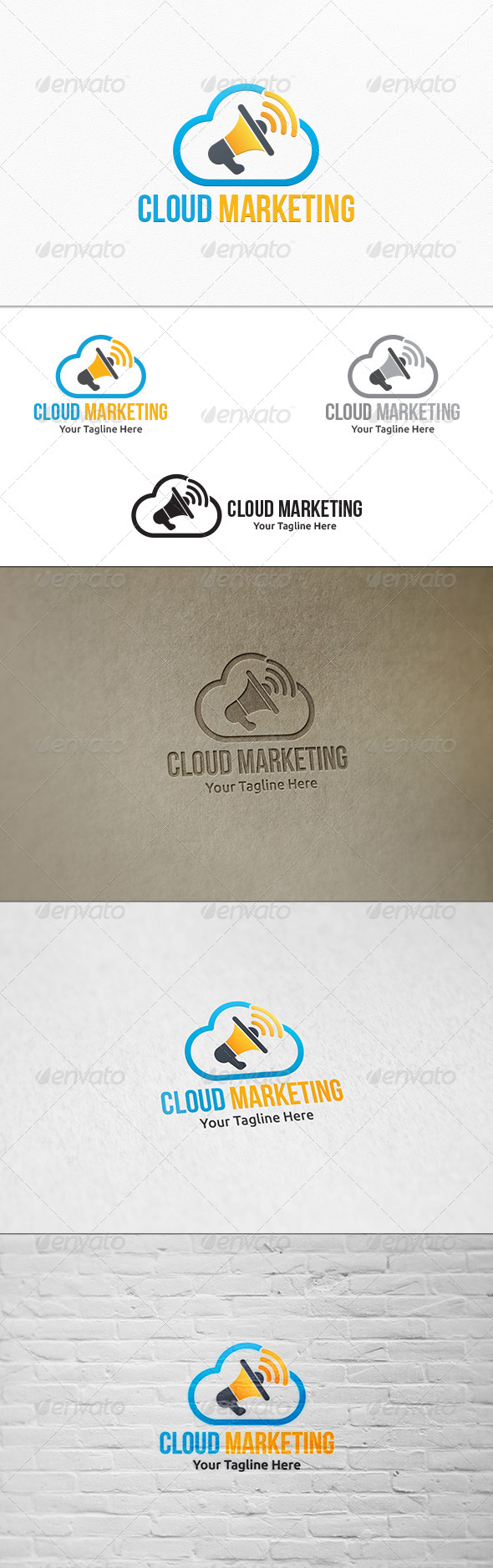 Cloud Marketing Logo Template