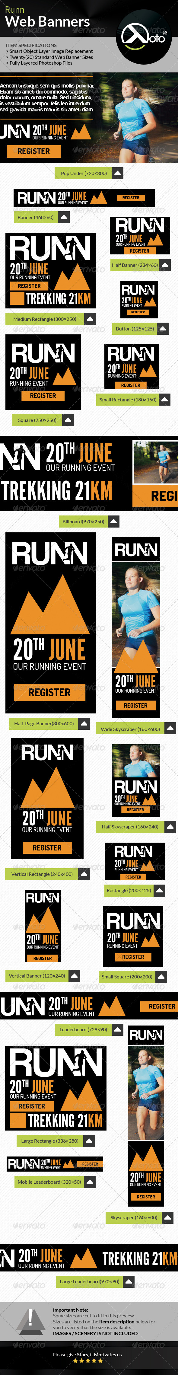 GraphicRiver Runn Marathon Running Club Fitness Web Banners 8027874