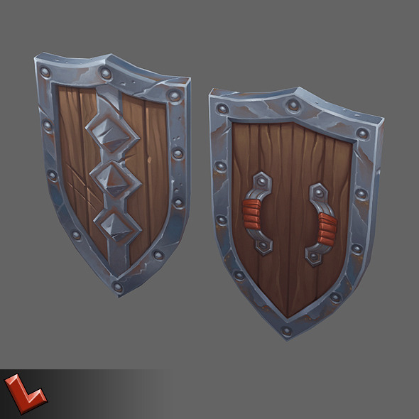 3DOcean Low poly hand painted shield [Militia 06] 8027946