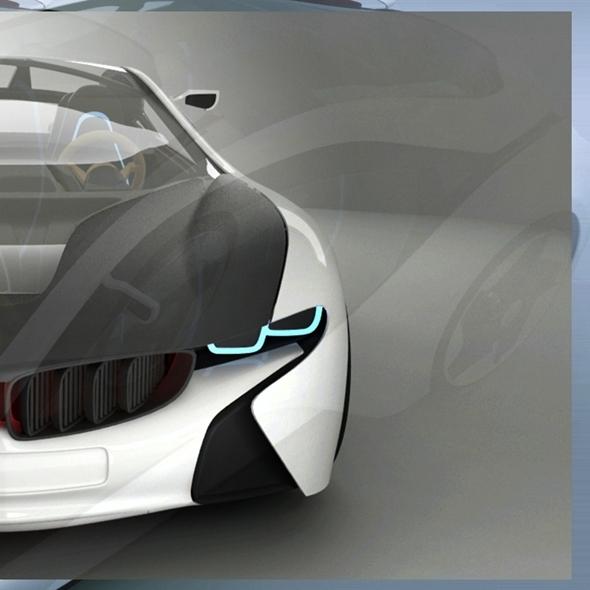 3DOcean BMW I8 Vision Concept 8027982